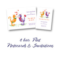4 Bar Flat Note Card