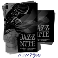 11 x 17 B&W Flyers & Posters