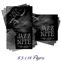 8.5 x 14 B&W Flyers & Posters